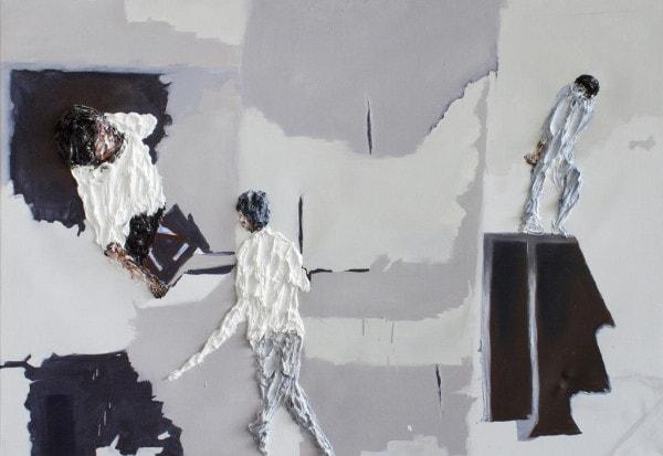 'Material Association', 2015, oil on canvas, 90 × 130 cm