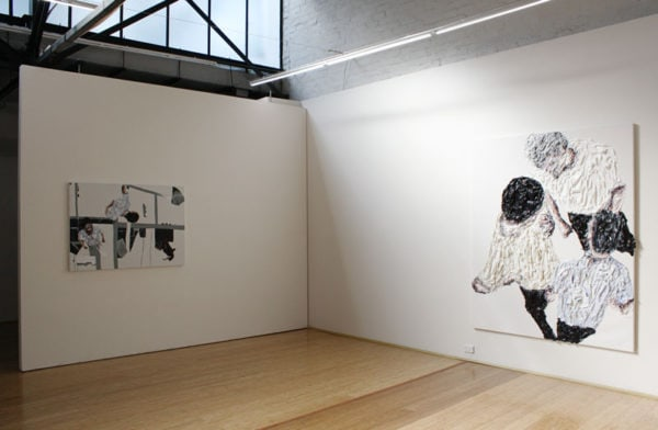 Exhibition shot of 'Friction' exhibition at DOMINIK MERSCH GALLERY in November 2015