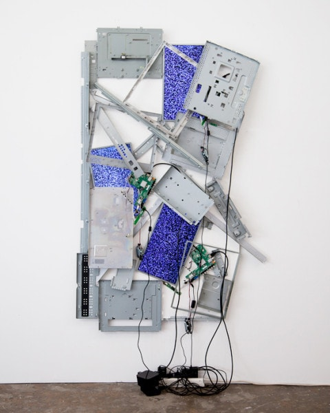 'Happy Chemicals', 2015, television components, 200cm x 100 cm, x 15 cm