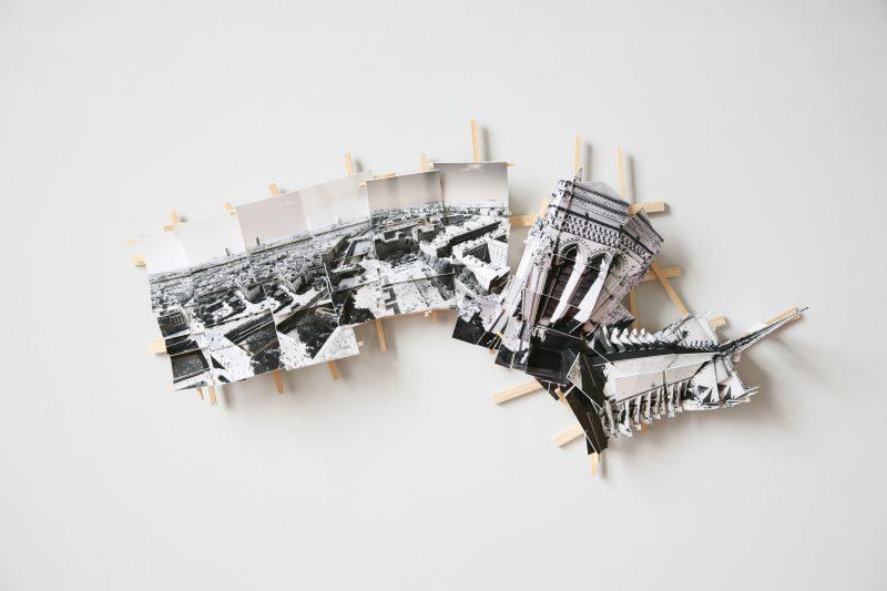 'Aerial Paris', 2017, C-print, wood, museum board, 50 x 25 x 8 cm