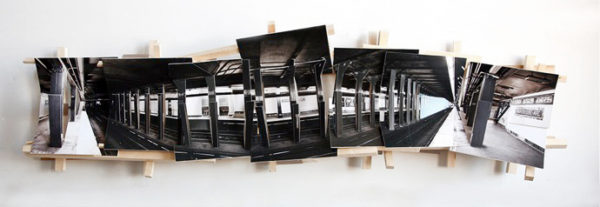 Black and White, 2016, C-Print, wood, museum board, 180 x 53 x 20 cm