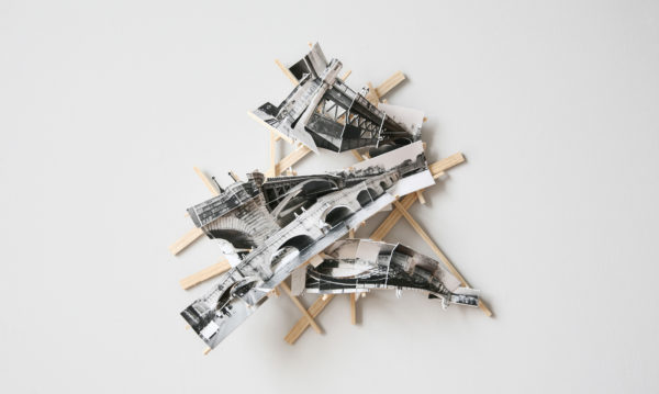'Paris Bridges', 2017, C-print, wood, museum board, 30 x 35 x 8 cm