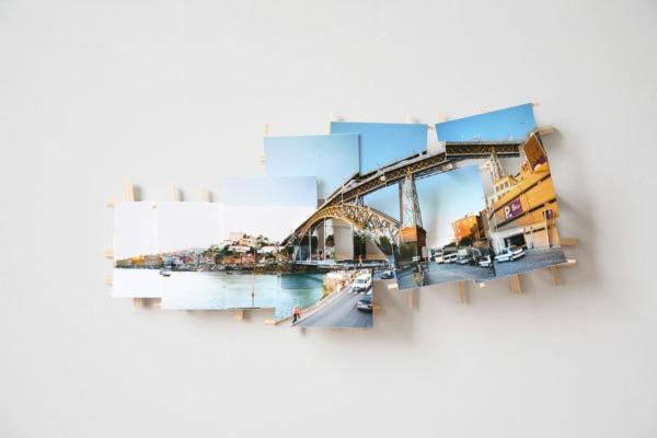'Porto Bridge', 2017, C-print, wood, museum board, 46 x 20 x 8 cm