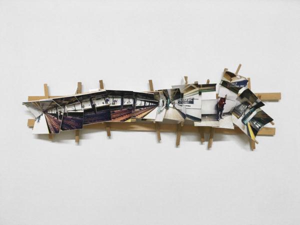 'Subway 1', 2016, C-print, wood, museum board, 38 x 15 x 8 cm