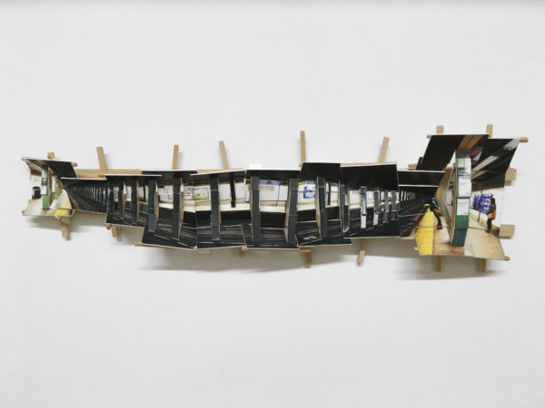 'Subway 2', 2016, C-print, wood, museum board, 38 x 15 x 8 cm