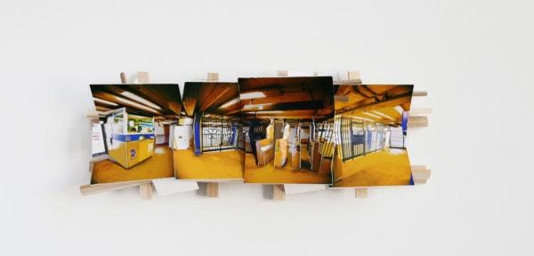 'Yellow', 2016, C-print, wood, museum board, 38 x 15 x 8 cm
