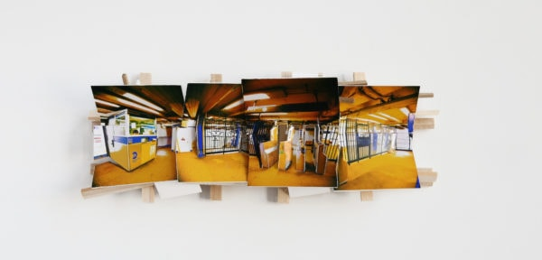 'Yellow', 2016, C-print, wood, museum board, 38 x 15 x 8 cm