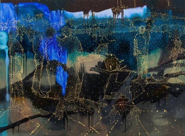 'Blue Terrain', 2016, oil on linen, 185 x 250 cm