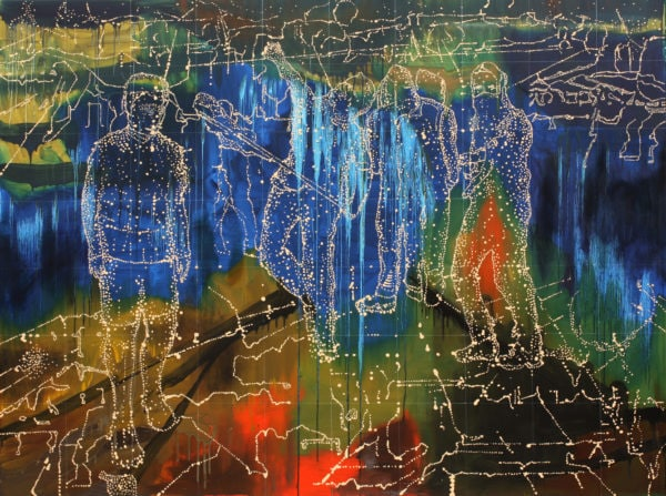 'Signal Group', 2016, oil on linen, 185 x 250 cm