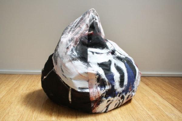 'Bean Bag 3', 2017, ink, oil on linen, dimensions variable,