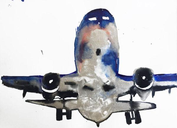 'Flug', 2017, ink on paper, 28 x 38 cm