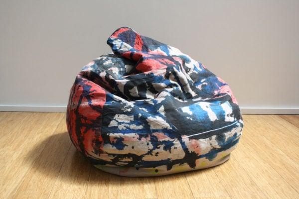 'Bean Bag 2', 2017, ink, oil on linen, dimensions variable