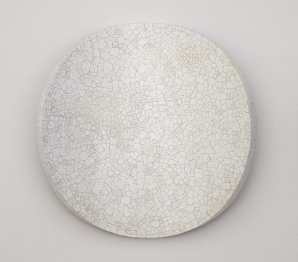 'Lunar Warp: No 17', 2017, duck eggshell, bending ply, mirror stainless steel, polyurethane, 50 x 12 cm deep