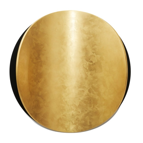 'Lunar Warp: No 7', 2015, MDF, timber, mirror stainless steel, Dutch gold leaf, 45 cm diameter x 60 cm deep