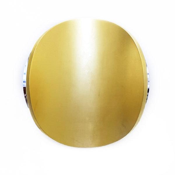 'Lunar Warp: Sun No. 8' 2017, 22 karat gold leaf, mirror stainless steel, timber polyurethane, 45 diameter x 12 cm