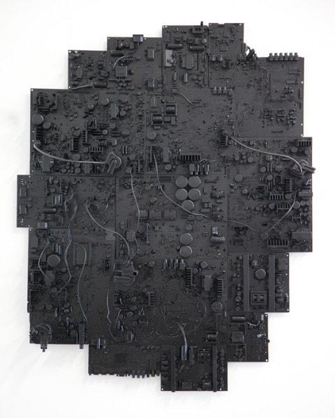 'Reward Pathways', 2015, television components, 100cm x 80cm x 15cm,