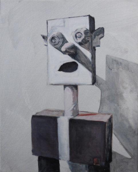 'figure 1', 2016, oil on canvas, 60 x 48 cm