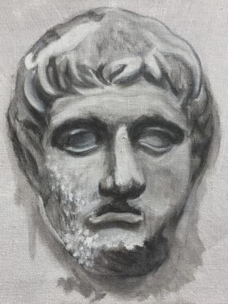 'Lysimachos (the greeks)', 2016, oil on canvas, 43 x 35 cm