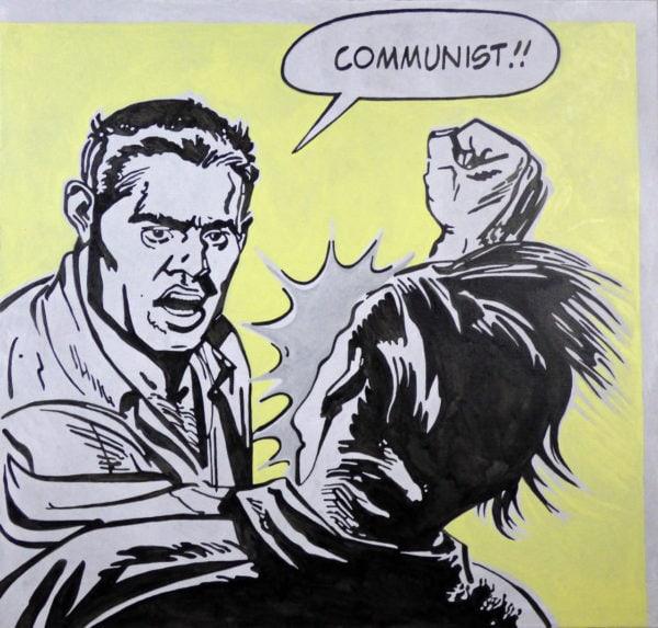 'Communist', 2016, oil on canvas, 100 x 105 cm