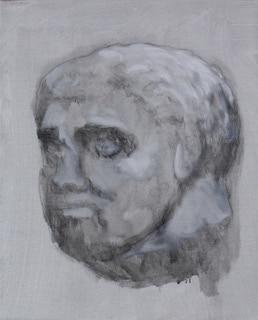 'Boy3 (the greeks)', 2016, oil on canvas, 43 x 35 cm