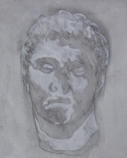 'Boy1 (the greeks)', 2016, oil on canvas, 43 x 35 cm