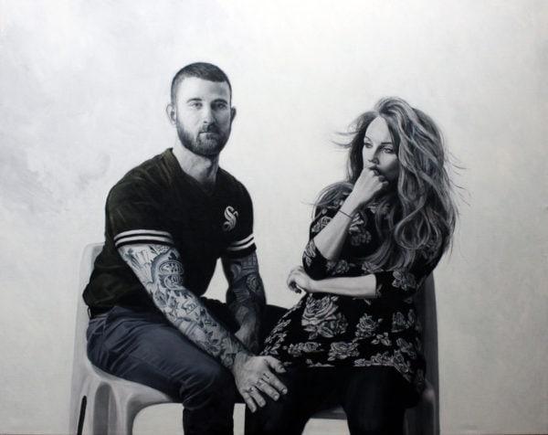 'Xavier + Catherine', 2016, oil on canvas, 160 x 200 cm