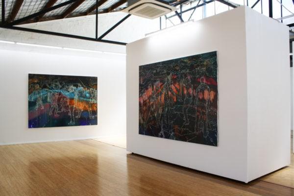 Exhibition shot of 'Jon Cattapan' exhibition at DOMINIK MERSCH GALLERY in November 2016