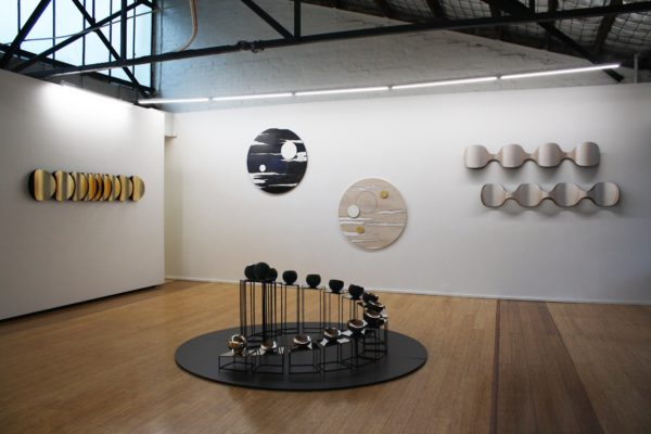 Exhibition shot of 'Moon's Ghost' at DOMINIK MERSCH GALLERY in July 2017
