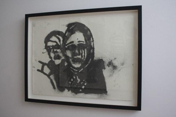 'U.T., 2015', Graphite on paper, 75 x 95 cm, framed