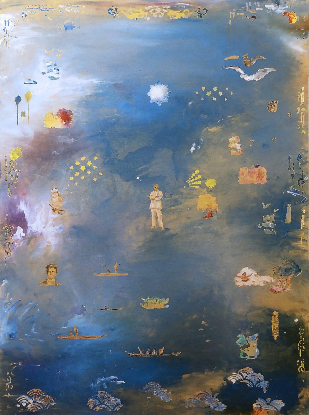 Tim Johnson, 'A.R.3', 2019, acrylic on linen, 137 x 102 cm