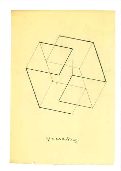 Joseph Albers, 'Wrestling'<br />