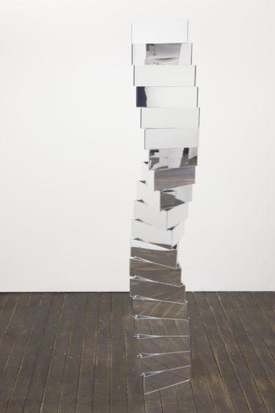 'Social Construct', 2018, acrylic mirror, approximately 190 x 30 cm