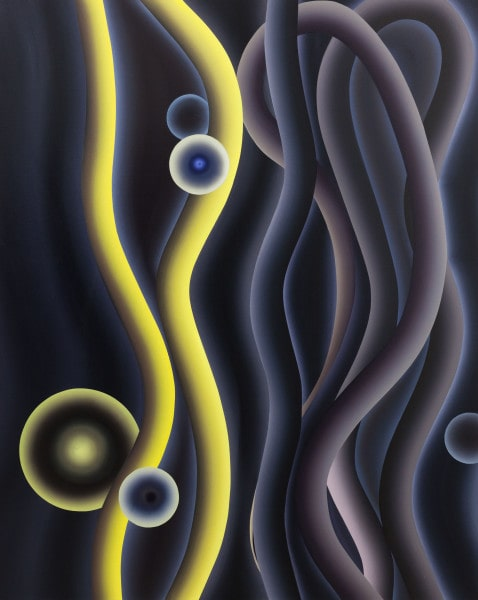 'Luna Tango: No. 1', 2015, Oil on canvas with end frames, 200 x 160 cm
