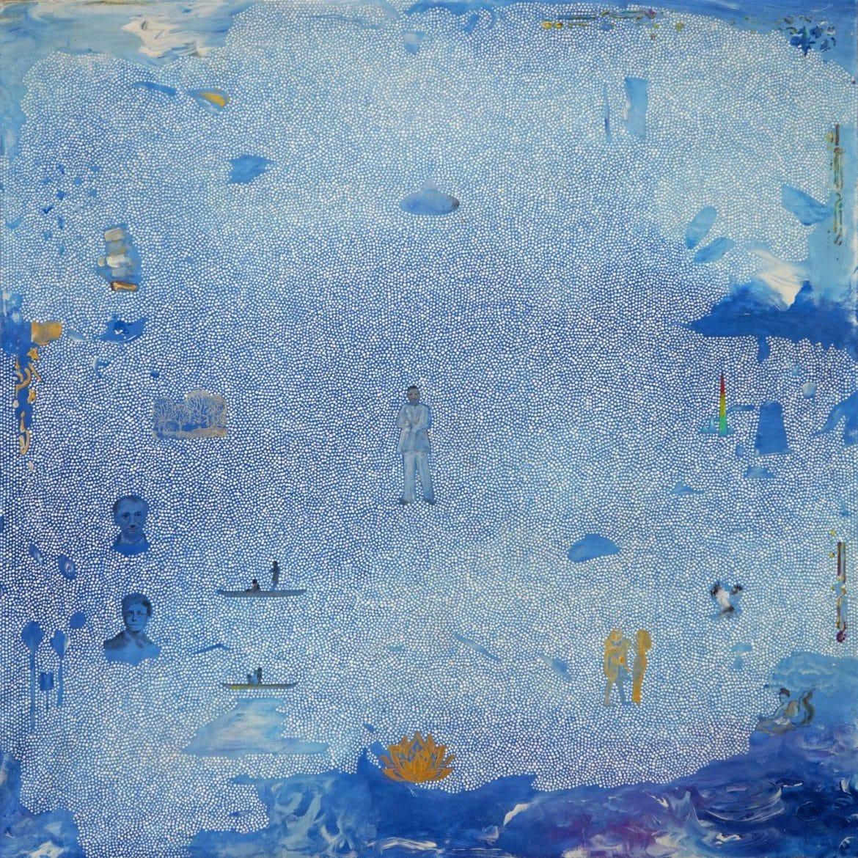 Tim Johnson, 'Rimbaud', 2019, acrylic on linen, 106 x 106 cm