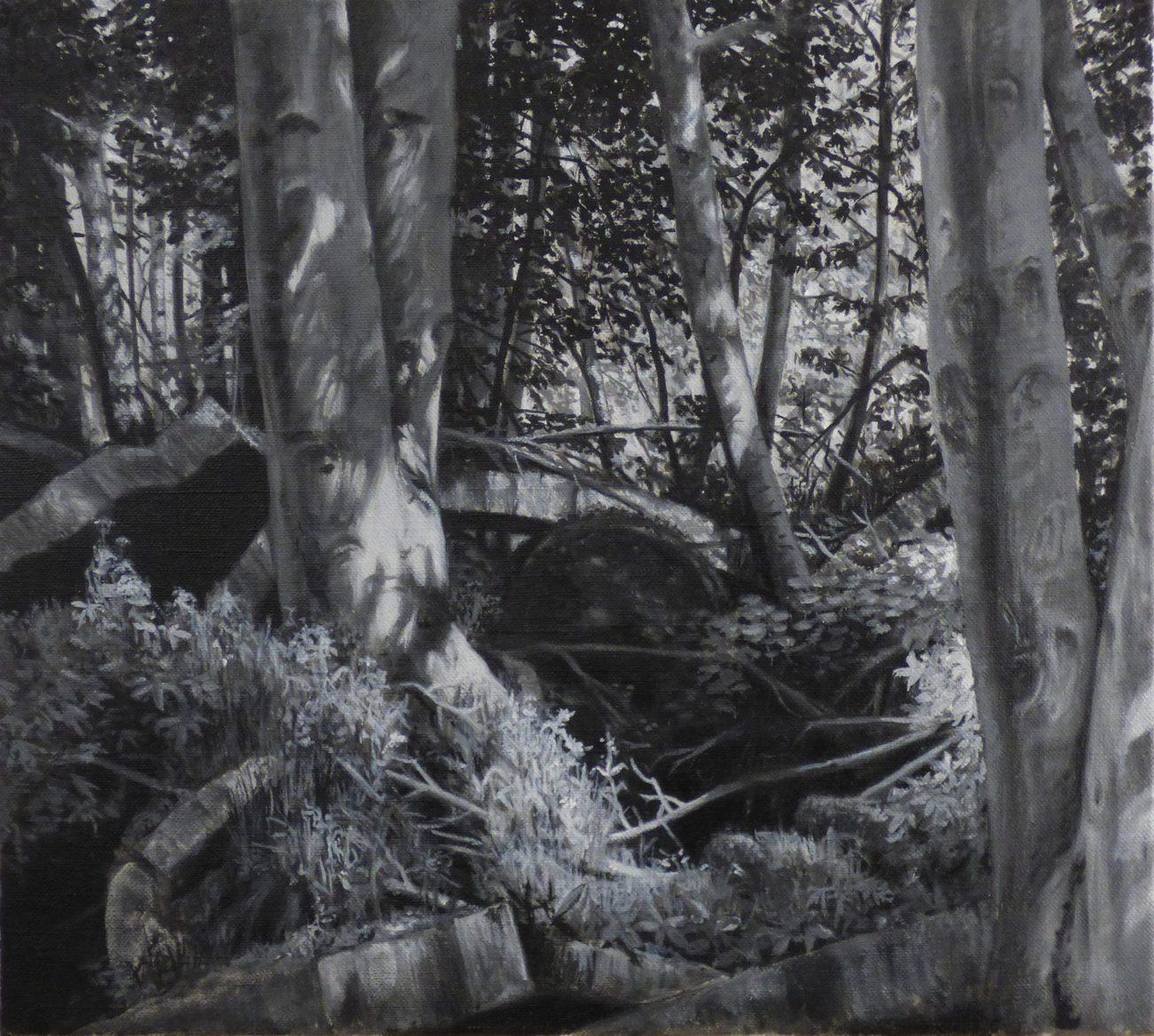 'Barth 1', 2018, 45 x 50 cm, oil on canvas