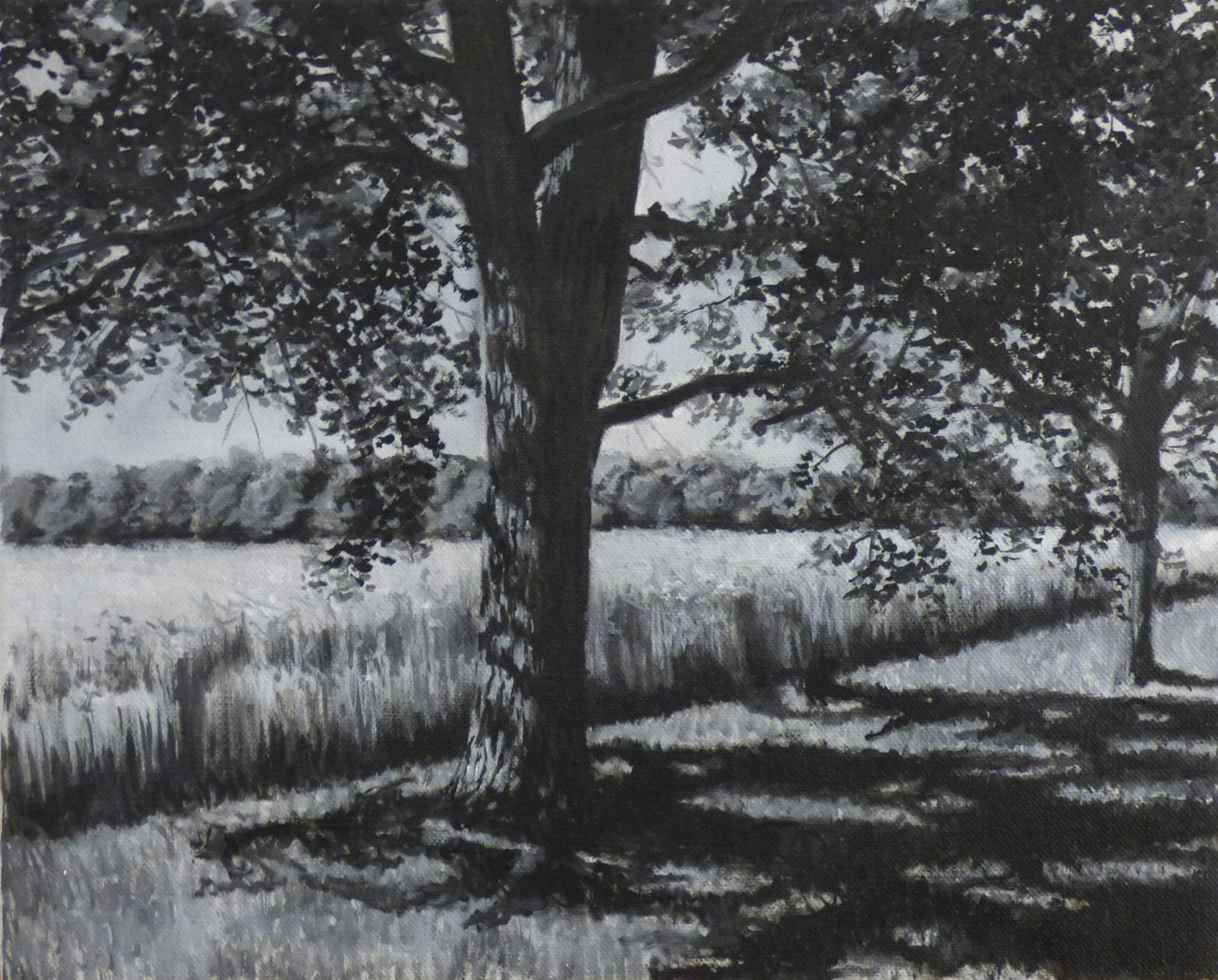 'Mönchshagen', 2018, 35 x 43 cm, oil on canvas