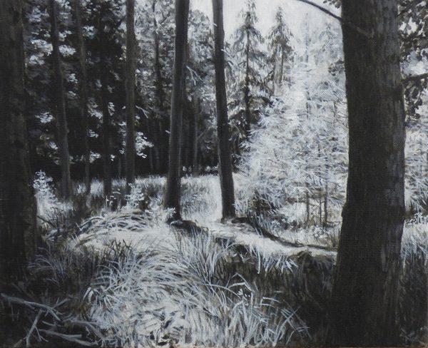 'Schwarzenpfost', 2018, 35 x 43 cm, oil on canvas