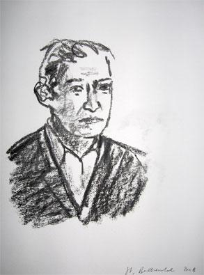 'U.T.', 2008, charcoal on paper, 32 x 24 cm