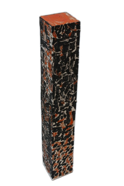 'Tower 7', ceramic and paint, <br /> 12 x 12.5 x 84 cm<br />