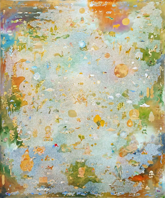 Tim Johnson, 'Sarasvati', 2019, acrylic on canvas, 183 x 152 cm