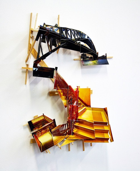 'Arcade-Bridge', 2011, C-Print on museum board, wood and hardware, 46 x 31 x 9 cm