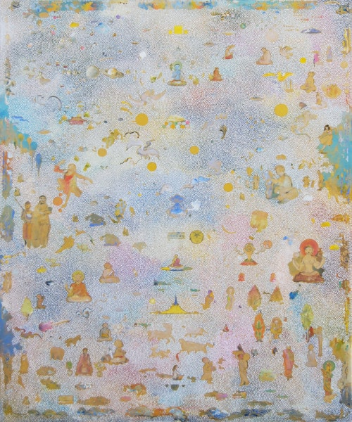 Tim Johnson, 'Blue Mt Meru', 2016, acrylic on linen, 183 x 152 cm