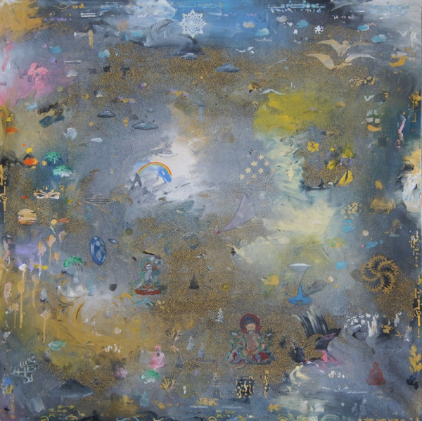 Tim Johnson, 'Operation Highjump', 2015, acrylic on linen, 121 x 121 cm