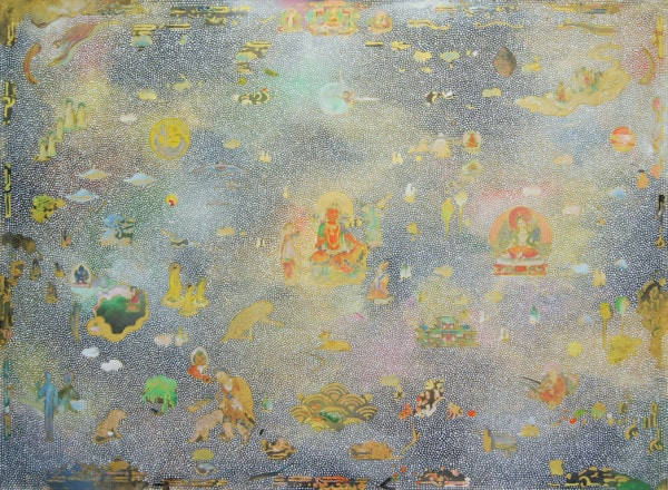 Tim Johnson, 'Orange Tara', 2016, acrylic on linen, 100 x 130 cm