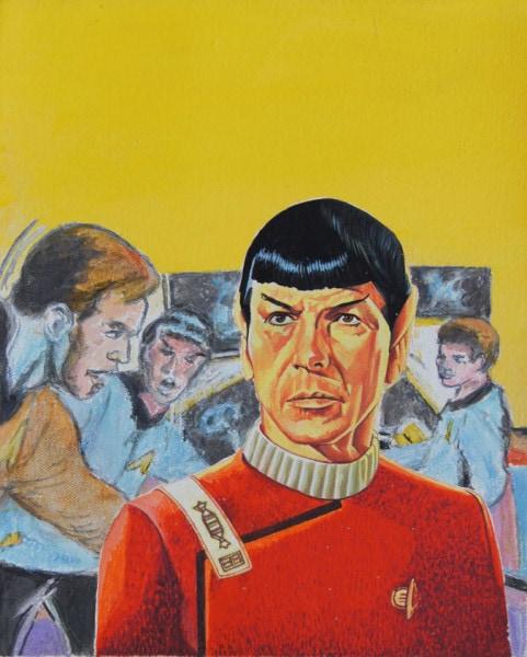 Tim Johnson and Daniel Bogunovic, 'Spock 1', 2016, acrylic on canvas, 25 x 20 cm