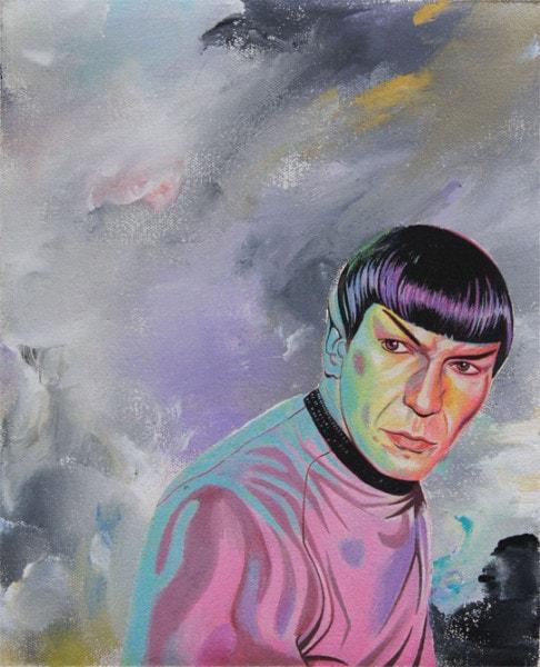 Tim Johnson and Daniel Bogunovic, 'Spock 2', 2016, acrylic on canvas, 25 x 20 cm