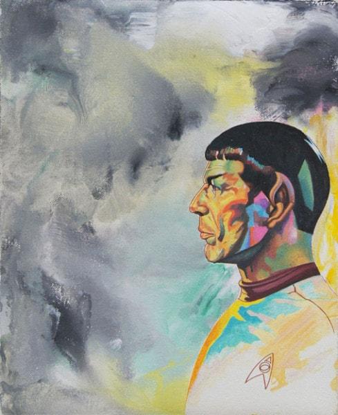 Tim Johnson and Daniel Bogunovic, 'Spock 3', 2016, acrylic on canvas, 25 x 20 cm