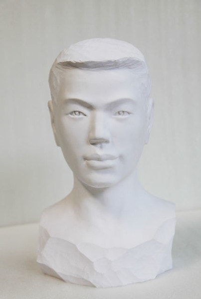Young Man, 2012<br /> Paper, glue, edition of 1, dimensions compounded<br /> 40 × 24 × 22cm