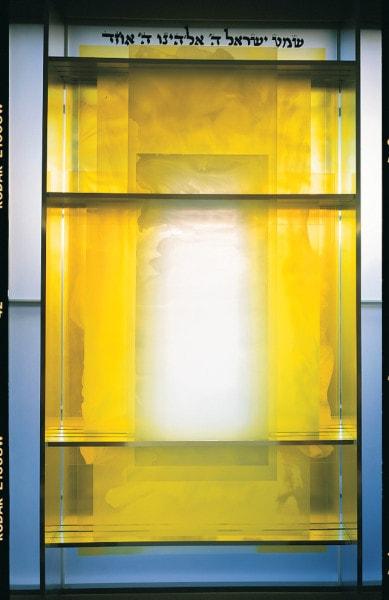 49 Veils, 1998, windows for the Central Synagogue, Bondi, Sydney Australia
