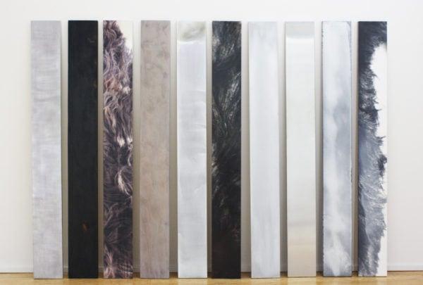 'Memory Matter', 1992-95, stainless steel, black steel, photograph, zinc, aluminium, wood, veneer, oil, wax, 192 x 266 cm